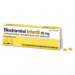 BIODRAMINA INFANTIL 25 MG 12 COMP