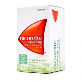 NICORETTE FRESHFRUIT 2MG 105 CHICLES