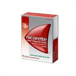NICORETTE CLEAR 10 MG 16 H 14 PARCHES TRANSD
