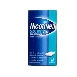 NICOTINELL COOL MINT 2 MG 12 CHICLES