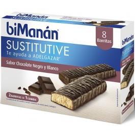 BIMANAN BARR CHOCO NEGRO&BLANC 8 U