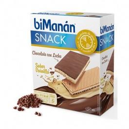BIMANAN SNACK CHOCOLATE C LECHE  SABOR VAINILLA 20 G 6 BISCUITS